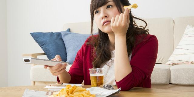 生活習慣に問題がある女性