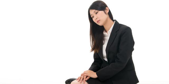 ストレスを抱えた女性