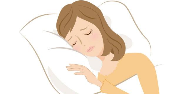 睡眠障害の女性