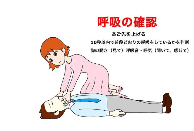 呼吸の確認