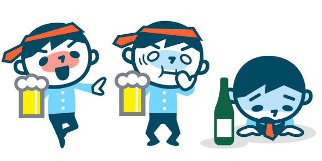 血中アルコール濃度による症状