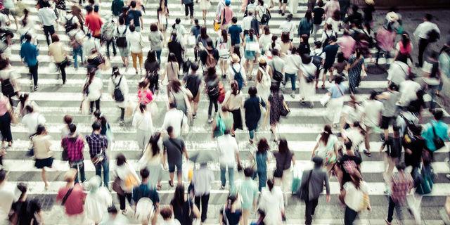 交差点の人混み