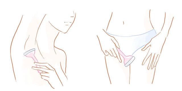 陰毛と脇毛の処理