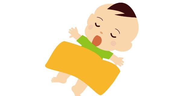 赤ちゃんと毛布