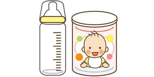 哺乳瓶と粉ミルク