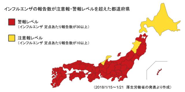 インフルエンザ感染MAP