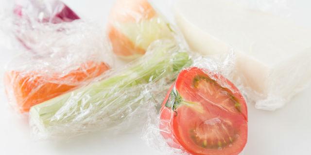 野菜のラップ保存