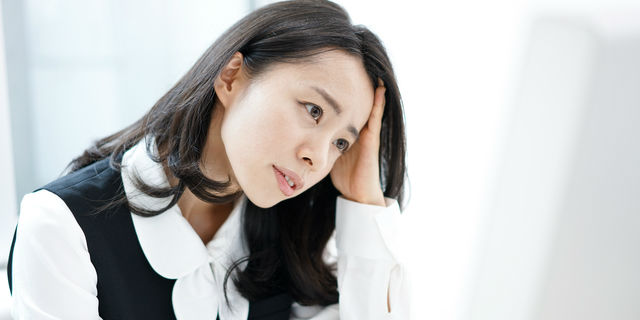 ストレスが溜まってる女性