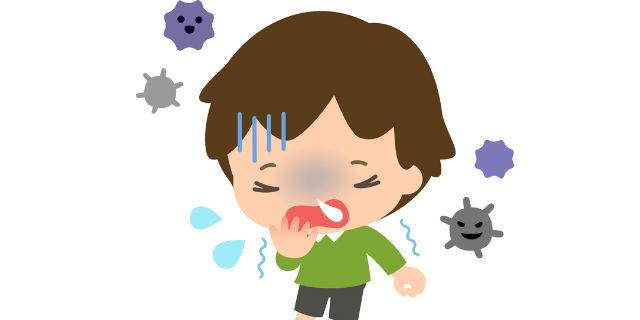 ウイルス感染する子ども