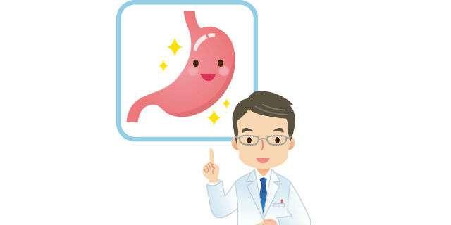 医師が胃の解説をする