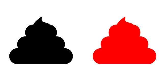 赤と黒の便