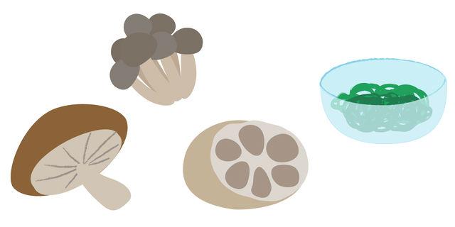 きのこ類や海藻類