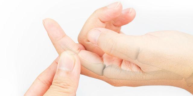 指の関節が太い