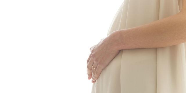 妊娠後期の女性
