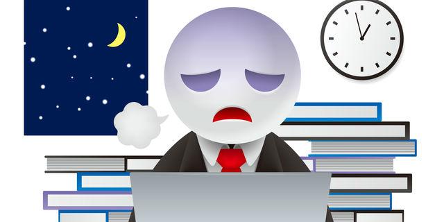 深夜残業のストレス