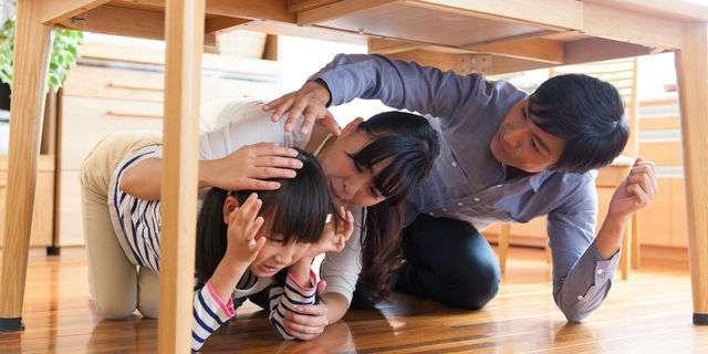 震災の親子