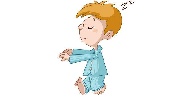夢遊病の子供