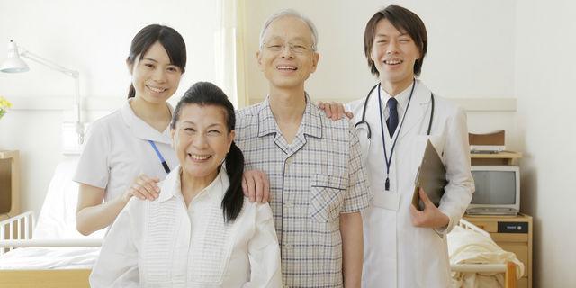 入院患者さんと医師