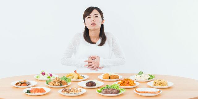 空腹の女性