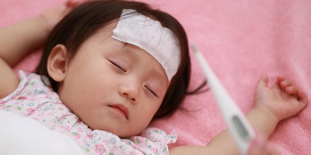 インフルエンザの流行で感染する子ども