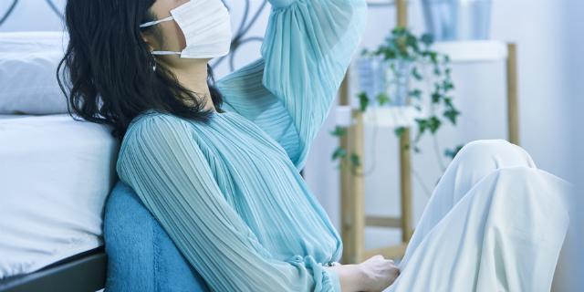 花粉症によってインフルエンザが重症化してしまった女性